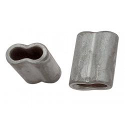 Mangas Ovais de alumínio anodizado para emenda de 3 mm