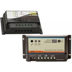 Regulador de carga para painéis solares 120/240wat 2 baterias