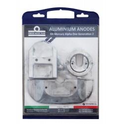 Anodos de alumínio para Mercruiser Alpha one generation II